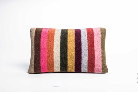 Picture of Small Cushion Safflower Wide Stripe (1)