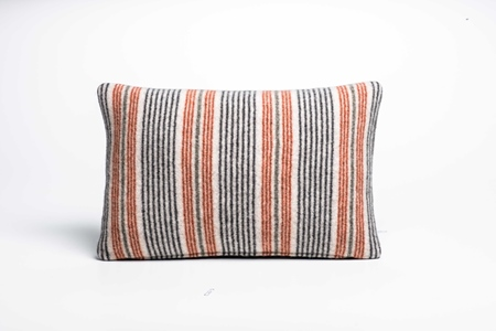 Picture of Small Cushion Safflower Fine Stripe