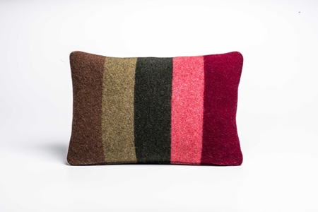 Picture of Small Cushion Camelia Wide Stripe