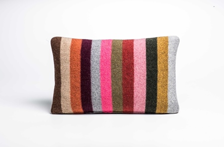 Picture of Small Cushion Safflower Wide Stripe (2)