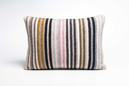 Picture of Large Cushion Crocus/Mead/Olive Mixed Stripe
