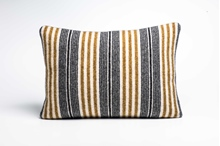 Picture of Large Cushion Mead/Black Mixed Stripe