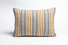 Picture of Large Cushion Mead/Coal Mixed Stripe