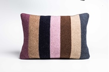 Picture of Large Cushion Crocus/Navy Bold Stripe(1)