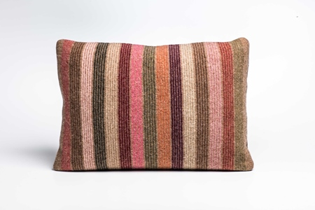 Picture of Large Cushion Mouflon Multi Colour Stripe