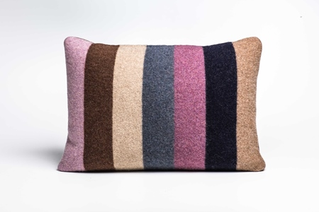 Picture of Large Cushion Crocus/Navy Bold Stripe(2)