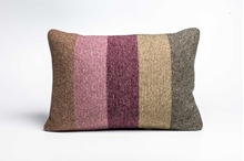 Picture of Large Cushion Burgandy/Sage Deck Stripe