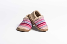 Picture of Baby Shoes Floxglove/Thistle Multi Stripe