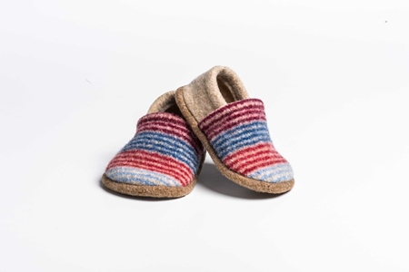 Picture of Baby Shoes Red/Cornish Deck Stripe