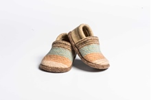 Picture of Baby Shoes Jade/Tangerine Deck Stripe