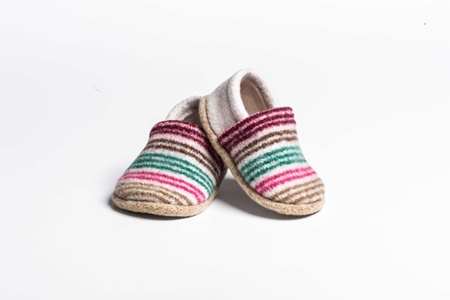 Picture of Baby Shoes Fiesta/Spearmint Mixed Stripe