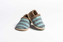 Picture of Baby Shoes Jade/Uniform Two Colour Stripe