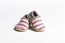 Picture of Baby Shoes Blossom/Sandstone Two Colour Stripe