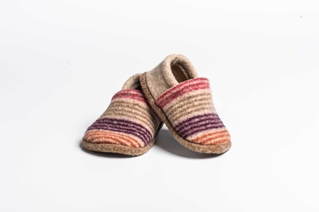 Picture of Baby Shoes Safflower/Old Rose Mixed Stripe