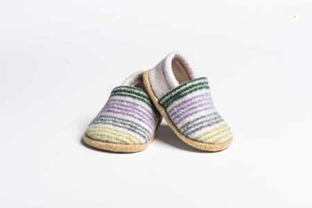 Picture of Baby Shoes Thistle/Turf Mixed Stripe