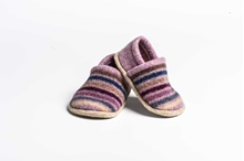 Picture of Baby Shoes Tyrion/Burgandy Multi Stripe