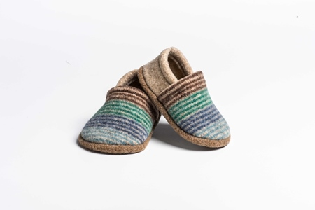 Picture of Baby Shoes Denim/Privet Deck Stripe