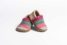 Picture of Baby Shoes Camelia/Privet Deck Stripe