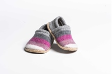 Picture of Baby Shoes Foxglove/Uniform Wide Stripe