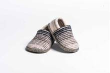 Picture of Baby Shoes Pebble/Coal Deck Stripe