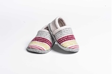 Picture of Baby Shoes Claret/Citrus Mixed Stripe