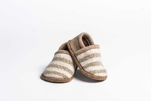 Picture of Baby Shoes Catkin/Stone 2 Colour Stripe