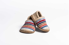 Picture of Baby Shoes Cornish/Red Multi Stripe