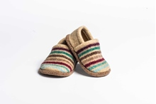 Picture of Baby Shoes Burgandy/Privet Multi Stripe