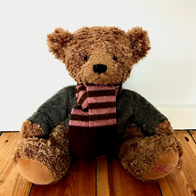 Picture of Teddy Bear Scarf Pink Grey Burgundy