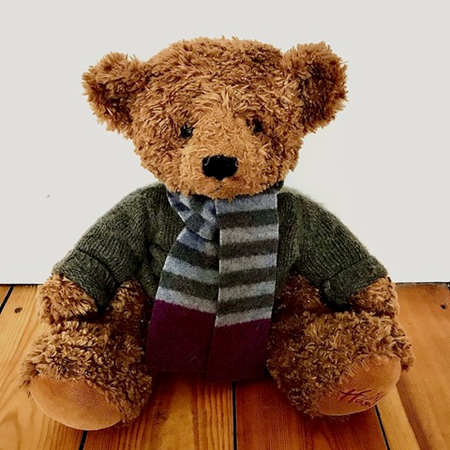 Picture of Teddy Bear Scarf Denim Smoke Purple