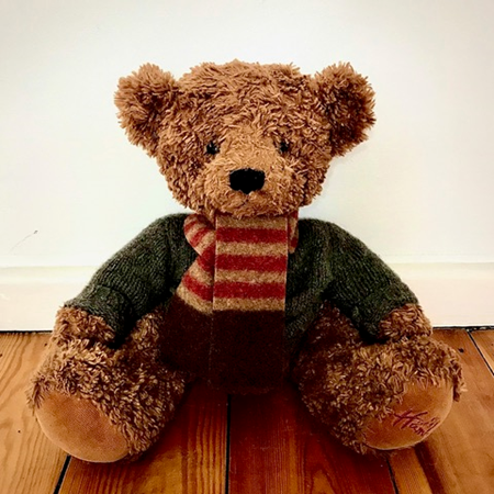 Picture of Teddy Bear Scarf Paprika Camel Brown