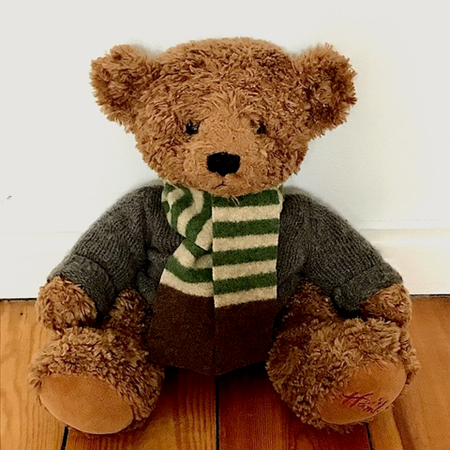 Picture of Teddy Bear Scarf Green Beige Brown