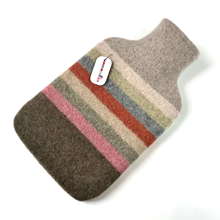 Picture of Hot Water Bottle Pistachio Pink Orange Stripe