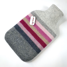 Picture of Hot Water Bottle Magenta Pink Lilac Stripe
