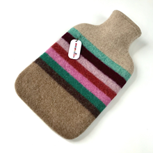 Picture of Hot Water Bottle Jade Paprika Pink Stripe