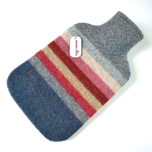 Picture of Hot Water Bottle Coral Paprika Rose Stripe