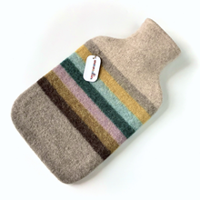 Picture of Hot Water Bottle Teal Yellow Lilac Stripe